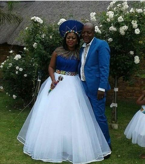 Wedding Gown Color Meanings: Venda Bride And Her Bridesmaid In Traditional Wedding