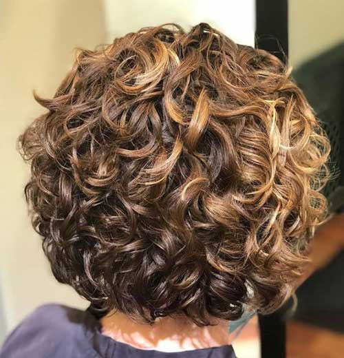 8 Back View Of Stacked Curly Bob Hairstyle Fashionre