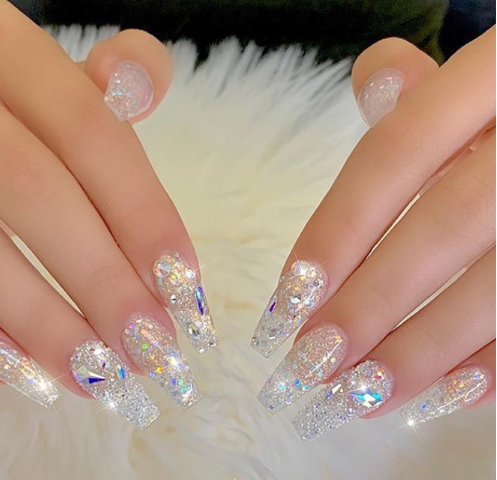 chic acrylic gel coffin nails design ideas 2020  fashionre